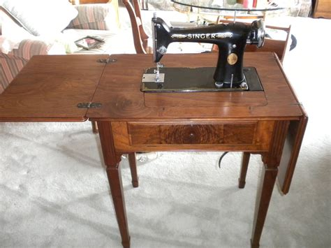 antique singer sewing machine in cabinet vintage singer 101 sewing machine and cabinet up only
