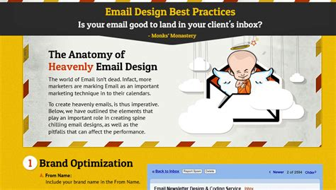 email newsletter layout best practices infographic email design best practices