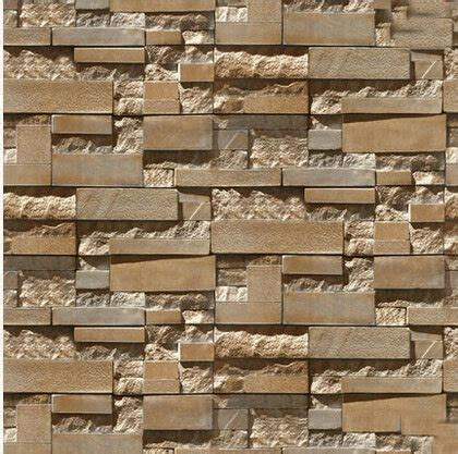 Silver Brown Bata List Brown 3d brick wall paper grey luxury wallpaper for living