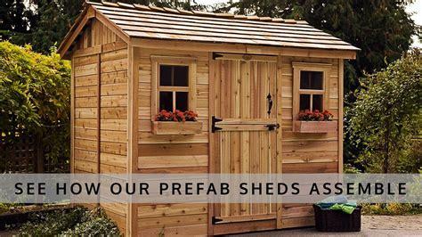 prefab shed kits easy  install olt shed kits tool