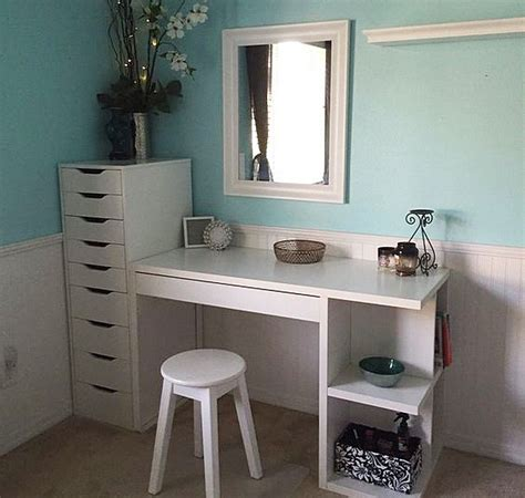 makeup table with alex drawers ikea micke desk with integrated storage as vanity desk