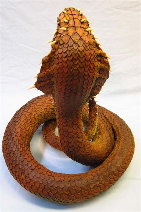 How To Make A Paper Mache Snake - naga paper mache of snakes gourmet paper mache