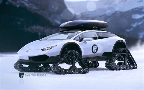 lifted lamborghini lamborghini huracan shooting brake on rubber tracks