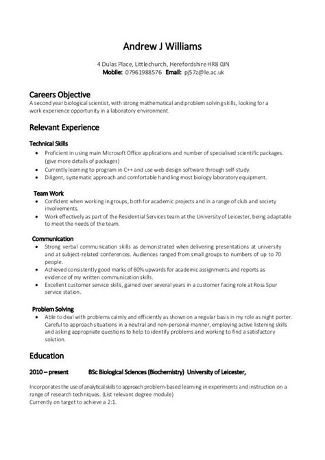 Mba In Fashion Management Canada by 14 Exle Of A Cv For Student Resume Letter Of