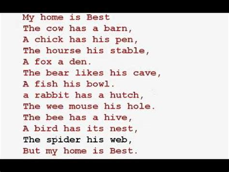 my home rhyme