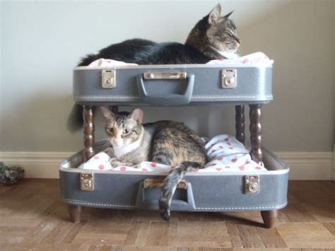 cat bunk beds for sale diy cat bunk bed made from a retro shell suitcase