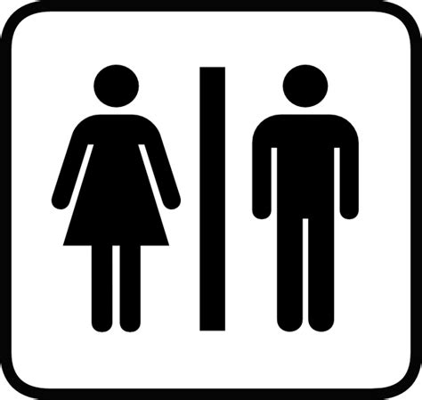 female bathroom male and female bathroom symbols clipart best