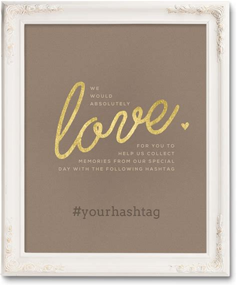 Wedding Hashtag Cards by Free Wedding Hashtag Posters Ewedding