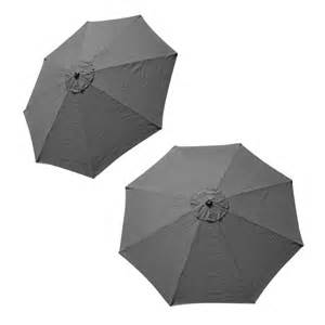 Replacement Patio Umbrella Covers Patio Market Outdoor 9 Ft 8 Ribs Umbrella Cover Canopy Grey Replacement Top Ebay