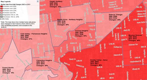 san francisco gentrification map san francisco gentrification all mapped out see where