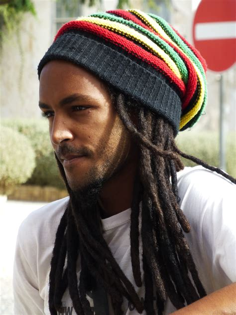 rastafarian style men rasta hat rasta dreads bob marley costume guys long hair