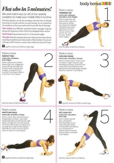 5 min flat abs workout trusper