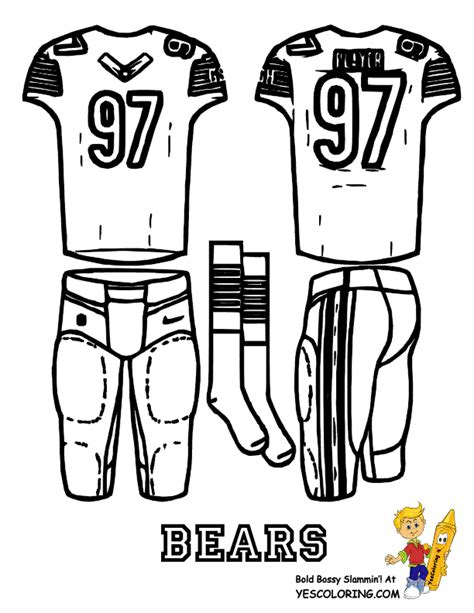 nfl uniform coloring pages football uniform coloring page free nfl nfc falcons