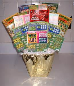 Lottery ticket basket ideas gifts auction ideas lottery ticket gift