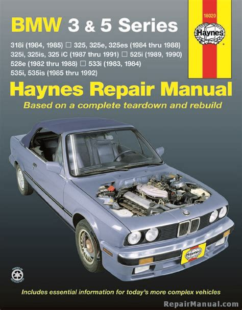 haynes owners workshop car manual bmw 3 5 series haynes bmw 3 5 series 1982 1992 auto repair manual h18020 ebay