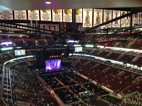 united center section 312 section 312 in the 312 well that s practically the front