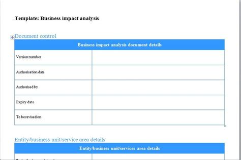 business impact analysis template xls 48 best images about excel templates on