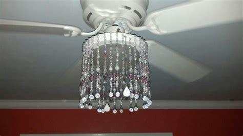boring ceiling fan turned into a fancy chandelier for