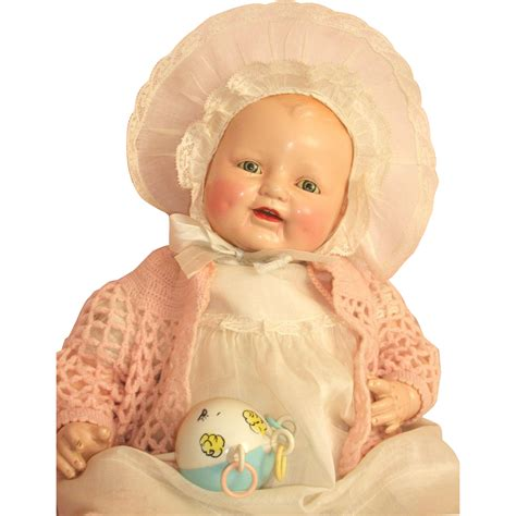 22 composition doll 22 baby dimples composition doll by e i horsman c1928