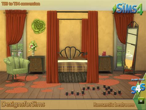 romantic bedroom sets my sims 4 blog ts3 romantic bedroom set conversions by