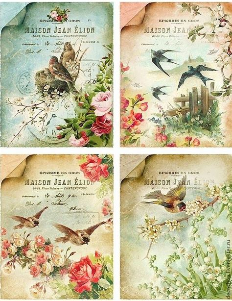 Can You Decoupage With Wallpaper - 25 best ideas about vintage birds on bird