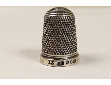 Thimble sterling silver thimble nineteenth century English