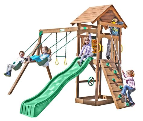 creative playthings wooden swing sets creative playthings playtime riviera wooden swing set