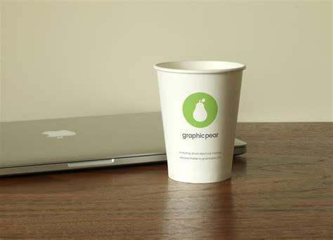 template desain mug gratis disposable cup mockups