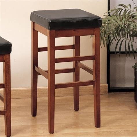 backless brown leather counter stools sonata 30 quot leather backless bar stool in brown lcstbachbr30