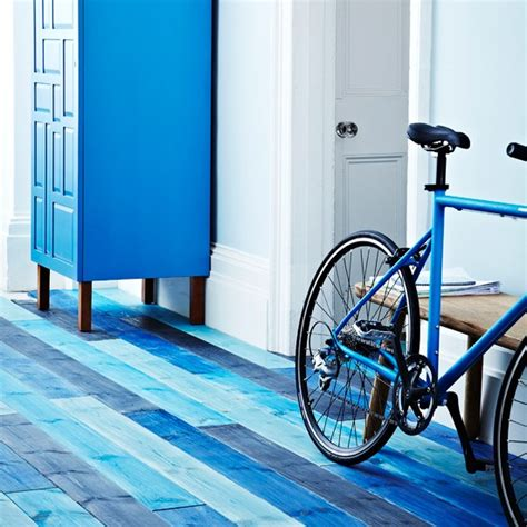 blue stained floorboards hallway flooring ideas housetohome co uk