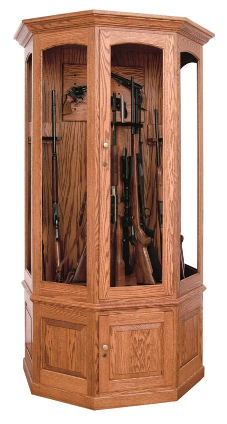 amish handcrafted wooden gun cabinet