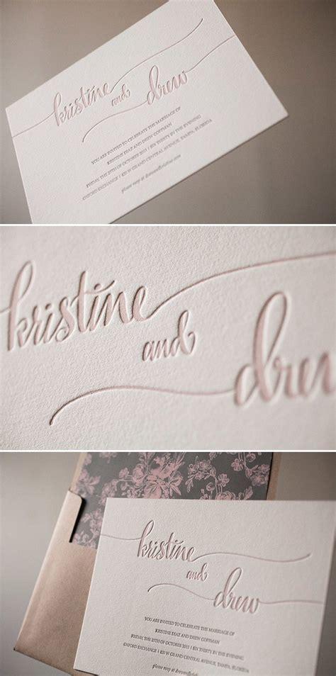 Letterpress Calligraphy Wedding Invitations
