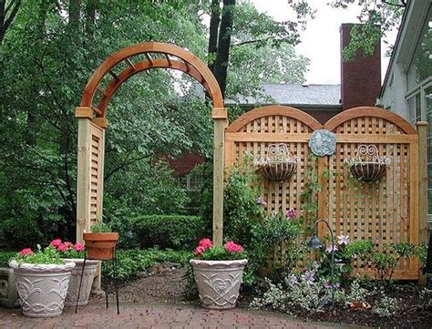 Garden Arch Fence Privacy Screen For A Back Patio Built