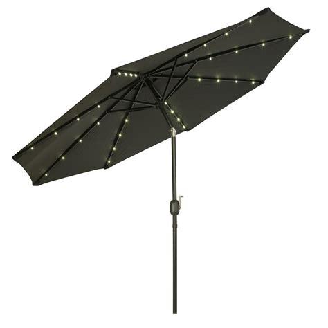 Solar Lighted Umbrella Trademark Innovations 9 Ft Deluxe Solar Powered Led