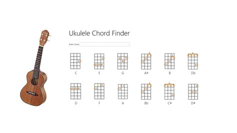 Chord Lookup Ukulele Chord Finder For Windows 10 8 Free