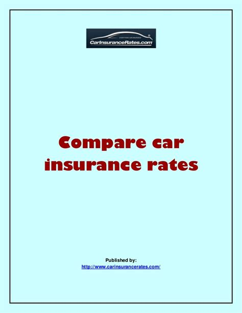 Compare Car Insurance by Compare Car Insurance Rates