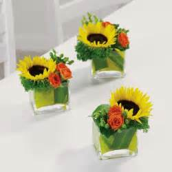 sunflower arrangements ideas simple fall flower arrangements make gorgeous party table centerpieces