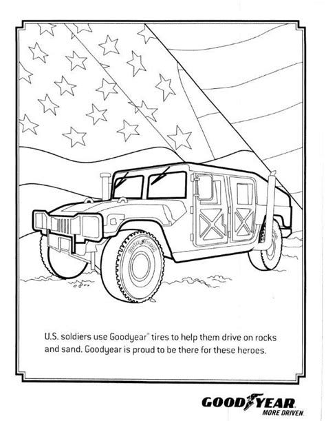 Kleurplaat Humvee Slantback   Home Of The Humvee