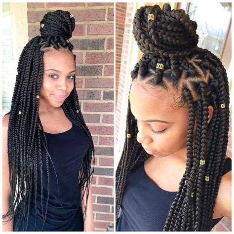 cute hairstyles for jumbo box braids braids w triangle parts natural gals pinterest
