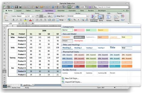 excel themes and styles three must see excel 2011 tricks macworld