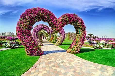 Give Your Floral Heart On Valintine S Day In Dubai Miracle World Largest Flower Garden In Dubai