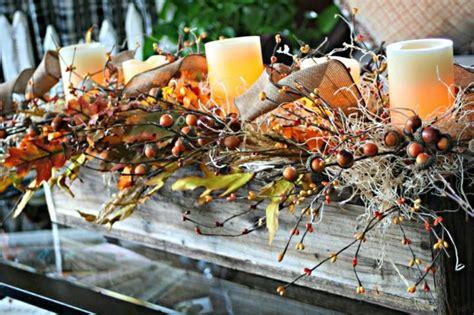 Einfache Herbstdeko Tisch by Herbstdeko Selber Basteln 40 Erstaunliche Ideen