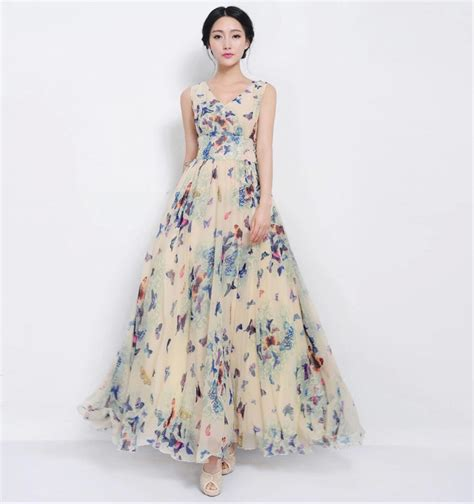 Buterfly Maxi designer butterfly floral maxi dress on luulla