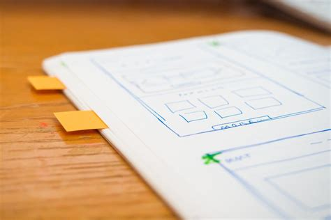 design notes sketch wireframe web design notes free stock photo