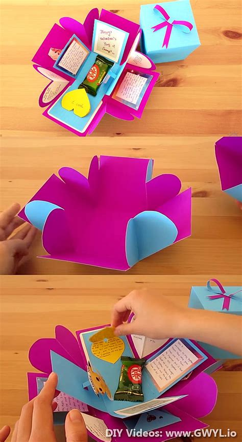 How To Make Birthday Presents Out Of Paper - best 25 diy gift box ideas on gift boxes diy