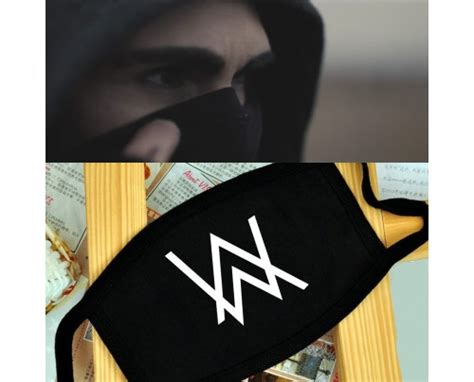 Masker Alan Walker alan walker fade logo breathing mask anti dust mask