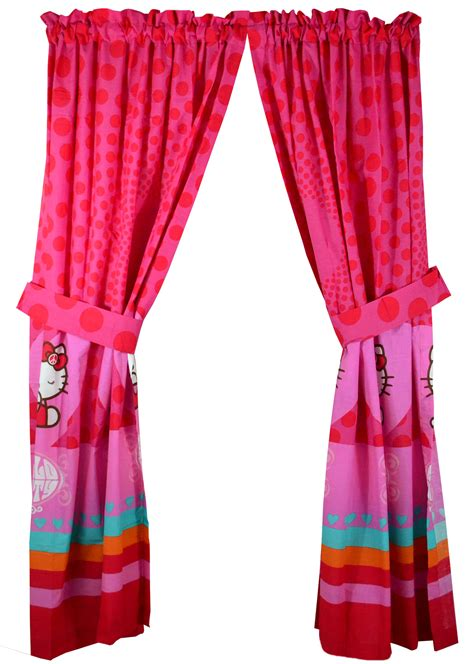 peace curtains hello kitty window curtains set 4pc sanrio peace and
