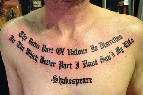 121 Awe Inspiring Chest Quotes Tattoos Chest Quotes About