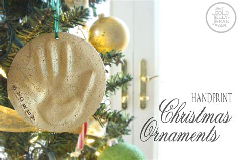 diy making handprint xmas ornaments babysmiles happy