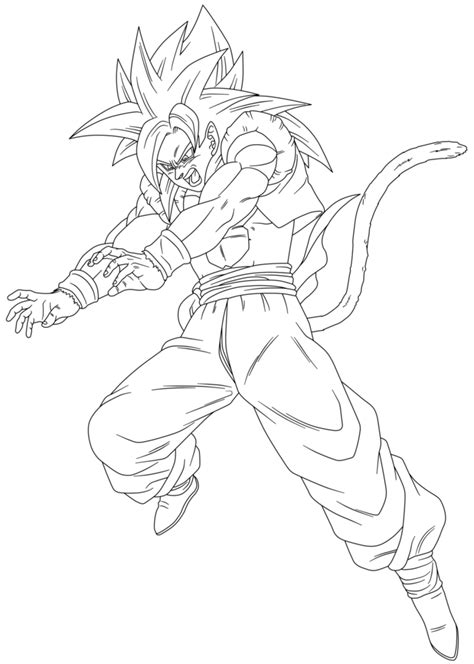 dragon ball z gogeta coloring pages gogeta ssj4 by maffo1989 on deviantart